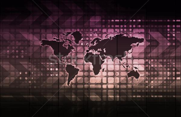Global business sieci wzrostu sztuki komputera Zdjęcia stock © kentoh