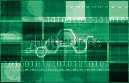 Adatvédelem biztonságos digitális technológia internet absztrakt technológia Stock fotó © kentoh