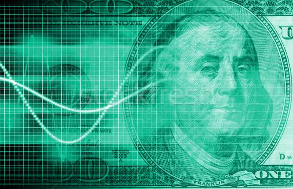 Mercato azionario analisi valuta scambio arte tecnologia Foto d'archivio © kentoh