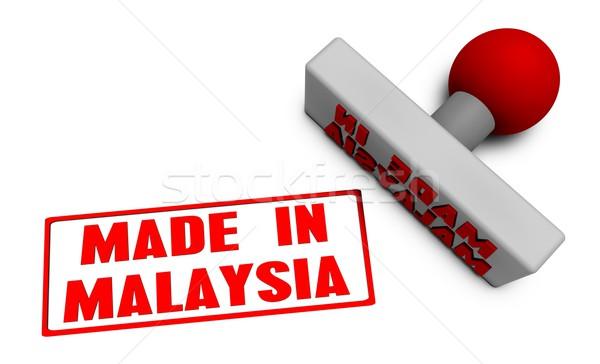 Сток-фото: Малайзия · штампа · бумаги · 3D · плодов