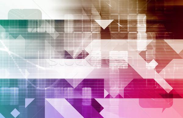 Base de données données ligne art fond web Photo stock © kentoh