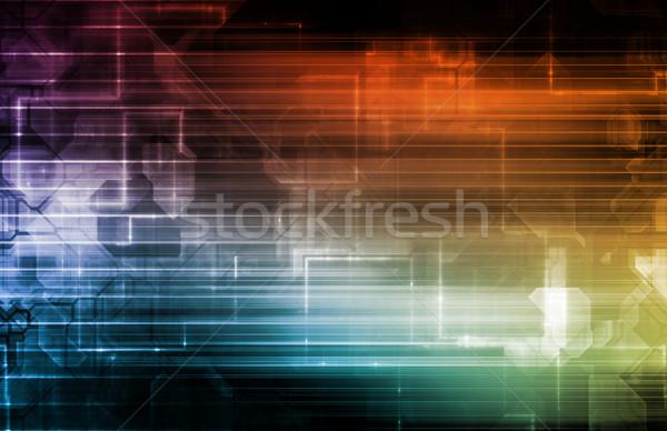 Ciencia líneas arte ordenador Foto stock © kentoh