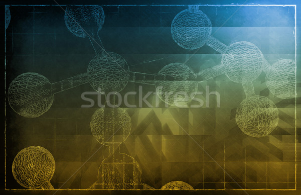 Dna abstract wetenschap genetisch kunst Stockfoto © kentoh