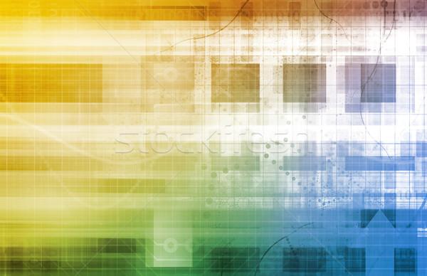 Photo stock: Science · futuriste · internet · ordinateur · technologie · affaires