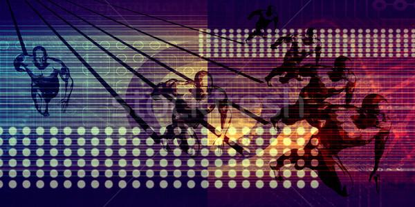 интеграция данные технологий фон сеть Сток-фото © kentoh