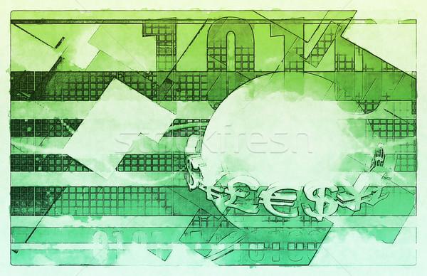 Valuta evenimente strain schimb fundal ştiri Imagine de stoc © kentoh