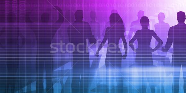 Recrutement agence processus affaires main fond Photo stock © kentoh