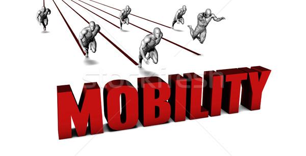 Besser Mobilität Business-Team racing Geschäftsmann läuft Stock foto © kentoh