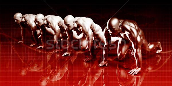 Technologii rozwiązanie business network sztuki sieci nauki Zdjęcia stock © kentoh