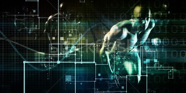 Inteligencia artificial red lógica arte resumen comunicación Foto stock © kentoh