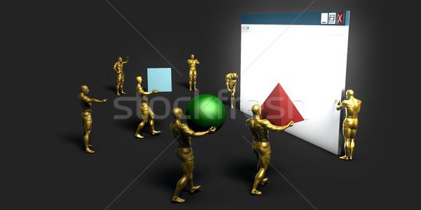 Teia tecnologia da informação arte futuro internet tecnologia Foto stock © kentoh