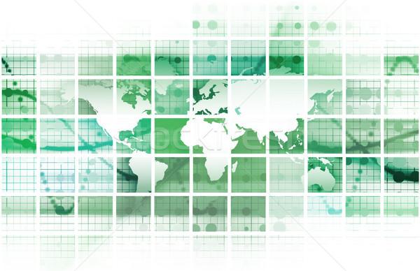 Cyfrowe rozwiązania korporacyjnych działalności sztuki Internetu Zdjęcia stock © kentoh