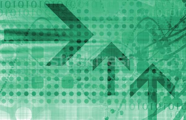 Tőzsde elemzés trendek jövő digitális információ Stock fotó © kentoh