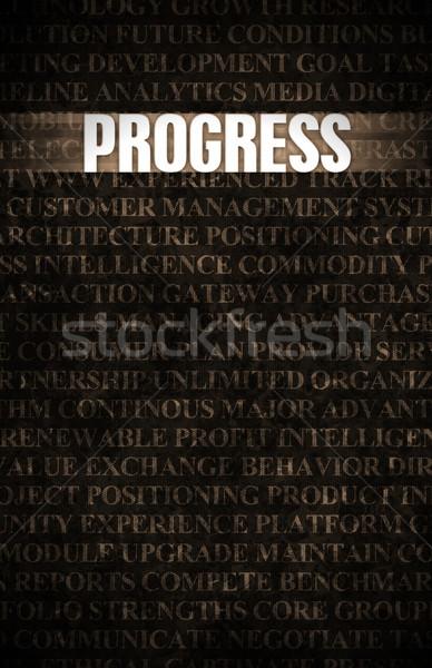 Progreso negocios motivación muro de piedra pared rock Foto stock © kentoh