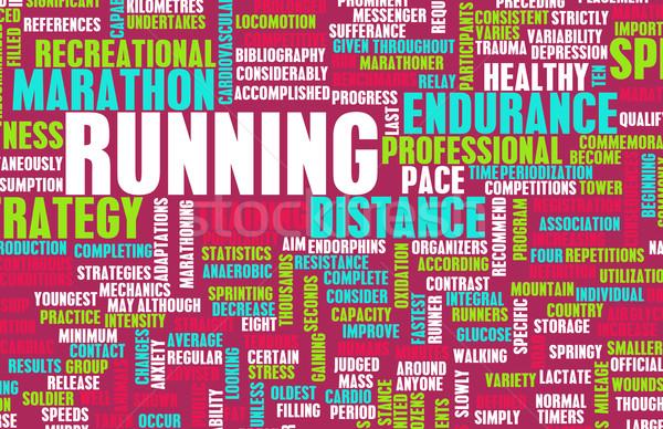 Courir endurance fitness hobby sport résumé Photo stock © kentoh