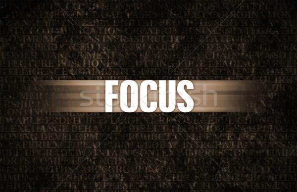 Fókusz üzlet motiváció kőfal fal ipar Stock fotó © kentoh