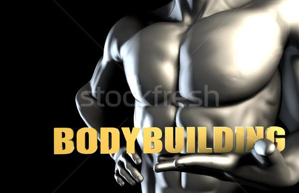 Bodybuilding uomo d'affari uomo industria servizio Foto d'archivio © kentoh