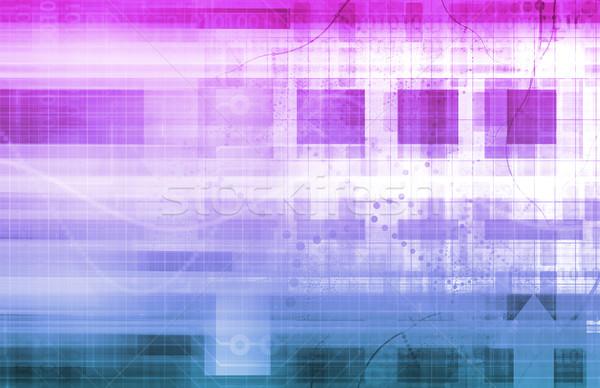 Global de negócios tecnologia rede fundo comunicação apresentação Foto stock © kentoh