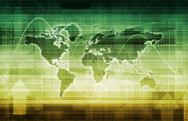 Moderna digital economía global trabajo escala Foto stock © kentoh