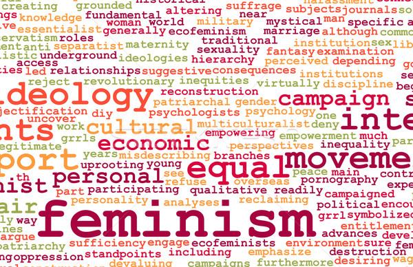 Feminizm ideoloji eşitlik adil tedavi iş Stok fotoğraf © kentoh