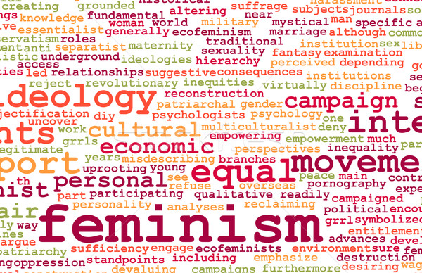 Feminismo ideologia igualdade feira tratamento emprego Foto stock © kentoh