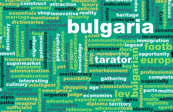 Bulgária vidék absztrakt művészet üzlet futball Stock fotó © kentoh