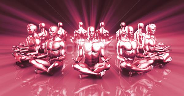 Zen vreedzaam geest yoga stress Stockfoto © kentoh