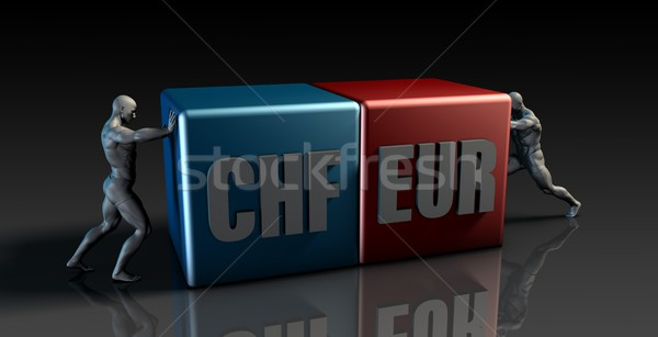 CHF EUR Currency Pair Stock photo © kentoh