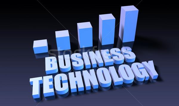 Business technologie grafiek grafiek 3D Blauw Stockfoto © kentoh