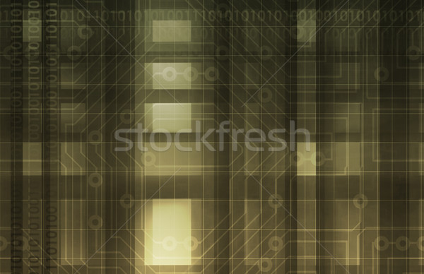 Technológia digitális absztrakt művészet háttér biztonság Stock fotó © kentoh