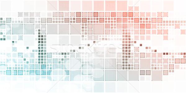 Badania naukowe futurystyczny technologii streszczenie bezpieczeństwa internetowych Zdjęcia stock © kentoh