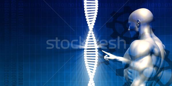 Biotechnológia kutatás absztrakt művészet technológia háttér Stock fotó © kentoh