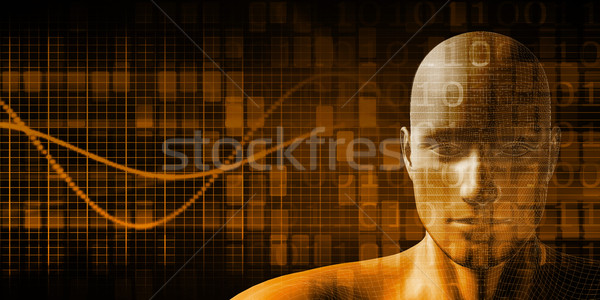 Digitale technologie humanoid internet abstract achtergrond toekomst Stockfoto © kentoh