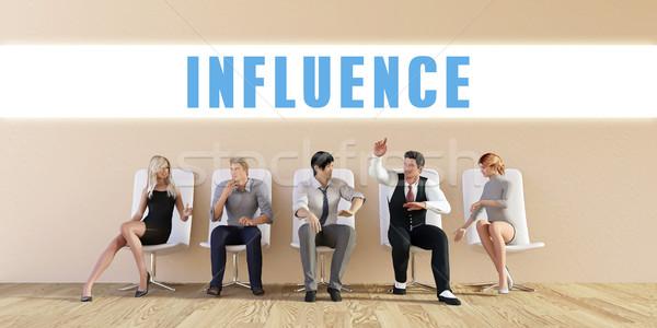 Affaires influencer groupe réunion homme fond Photo stock © kentoh