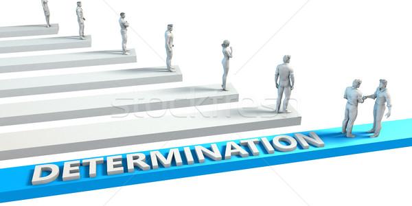 Elhatározás képesség jó alkalmazott üzlet kék Stock fotó © kentoh