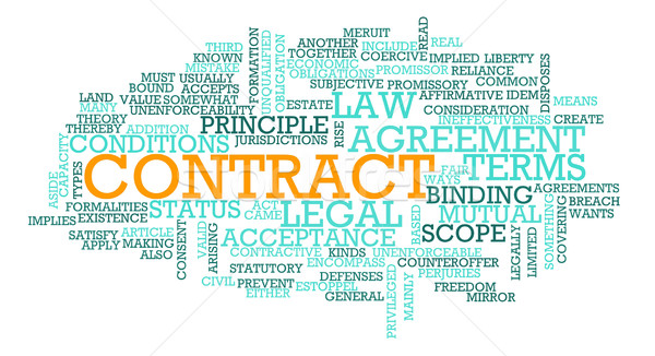 Contract Stock photo © kentoh