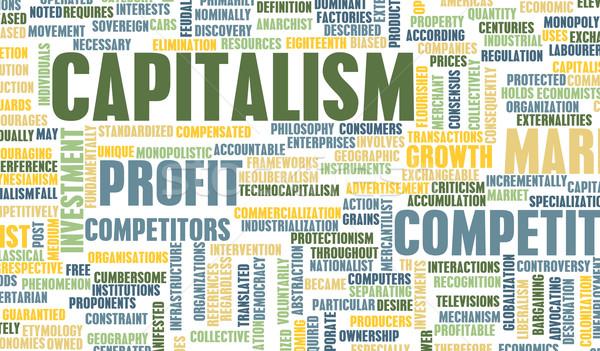 Capitalismo econômico crescimento negócio indústria financiar Foto stock © kentoh