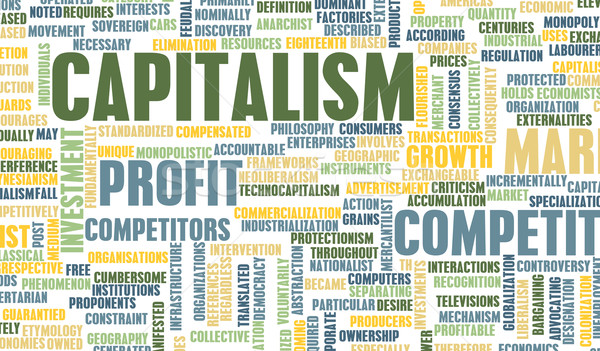 Kapitalizm ekonomik büyüme iş sanayi finanse Stok fotoğraf © kentoh