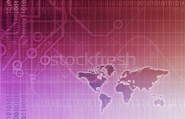 Global Business Abstract Background Stock photo © kentoh