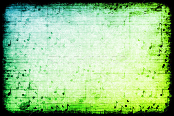 Music Themed Abstract Grunge Background Stock photo © kentoh