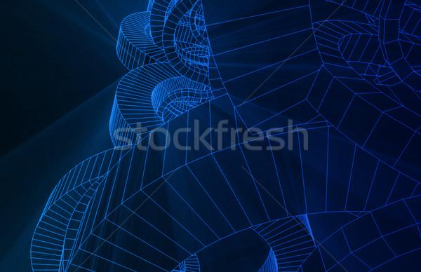 Streszczenie geometryczny line linie Zdjęcia stock © kentoh