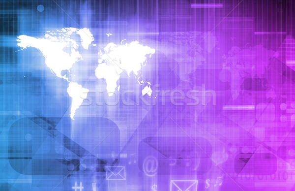 Internet connectiviteit mobiliteit software business werk Stockfoto © kentoh