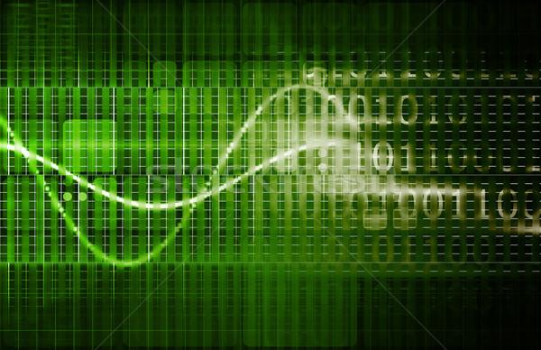 Agy számítógép interfész tér digitális művészet Stock fotó © kentoh