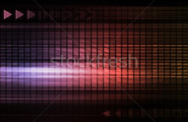 Medios de comunicación social tendencias tabla gráfico negocios tiempo Foto stock © kentoh