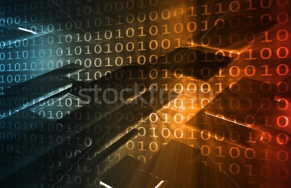 Ikili veri ikili kod çevrimiçi Internet dizayn Stok fotoğraf © kentoh