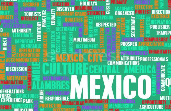 Meksyk kraju streszczenie sztuki działalności prezentacji Zdjęcia stock © kentoh