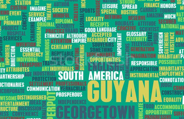 Guayana país resumen arte negocios presentación Foto stock © kentoh