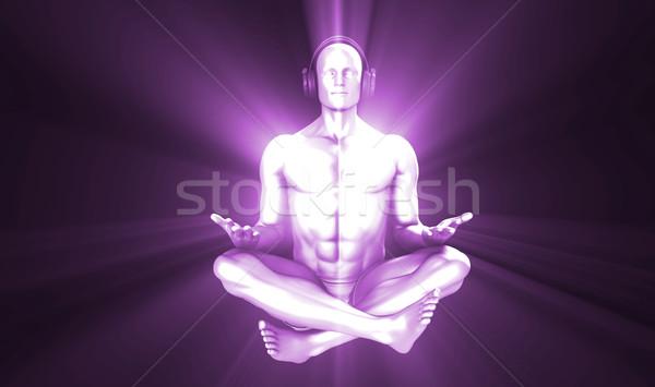 音楽を聴く 禅 リラックス ヘルプ 美しい ストックフォト © kentoh