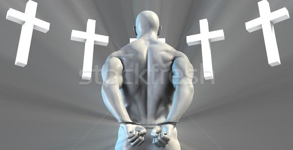 Divino intervenção religioso mudar homem Foto stock © kentoh