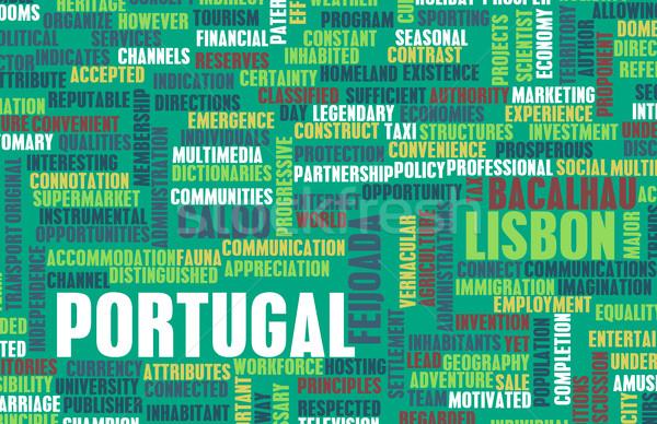 Portekiz ülke soyut sanat iş gıda Stok fotoğraf © kentoh